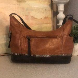 The Sak Two Tone Leather Shoulder Bag